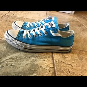Turquoise Converse All Star sneakers